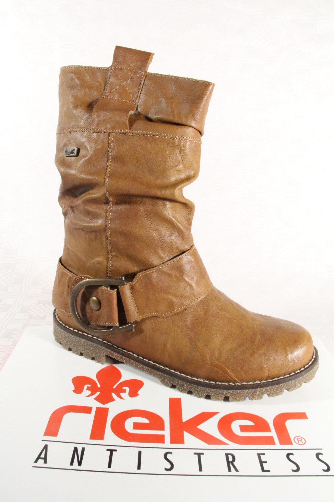 huge discount bc4de 28345 Rieker Stiefel Stiefelette Stiefeletten Boots braun Reißverschluß TEX NEU