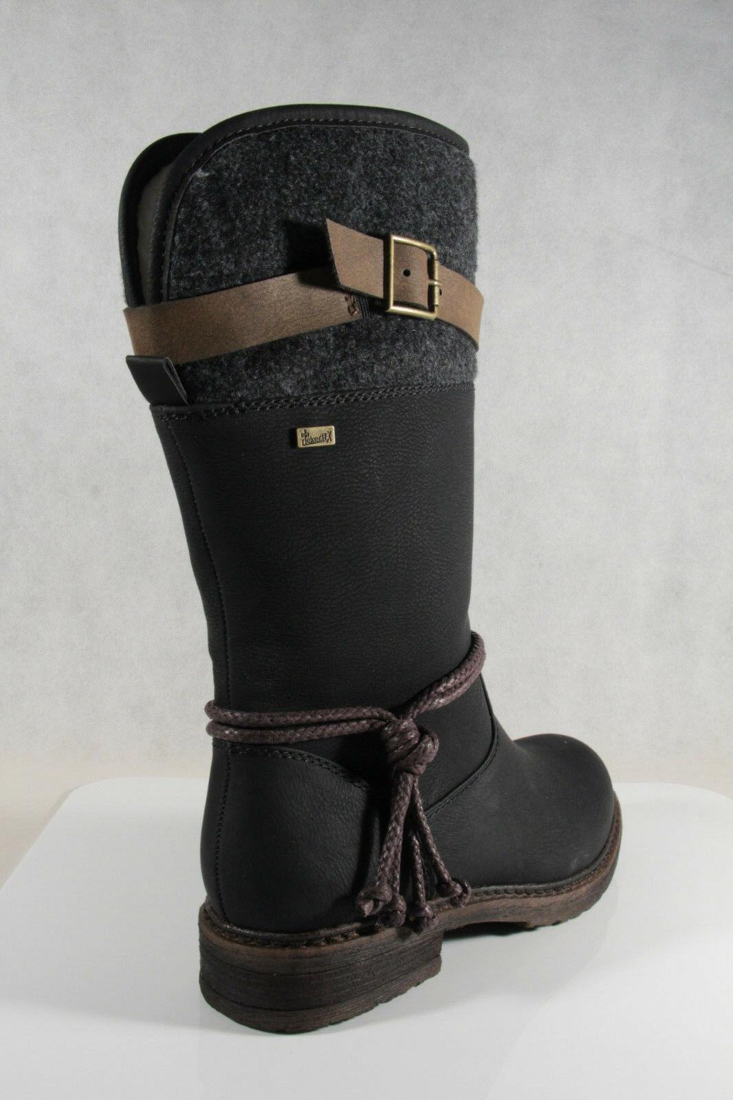 Rieker Tex Damen Stiefel Stiefeletten schwarz warm gefüttert 94778 NEU
