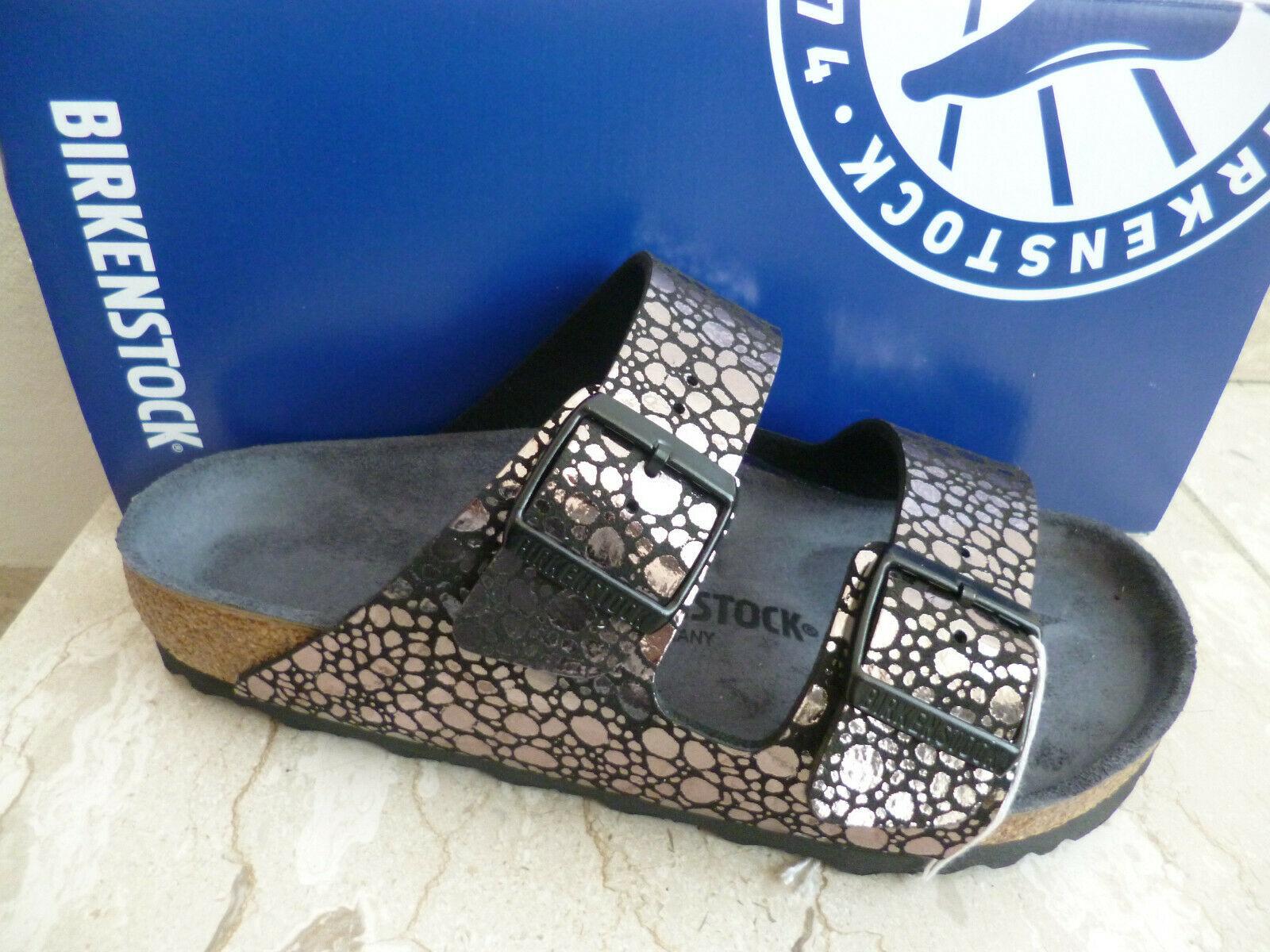 Birkenstock Arizona Pantolette Sandale Metallic Stones Black 1008871 NEU!