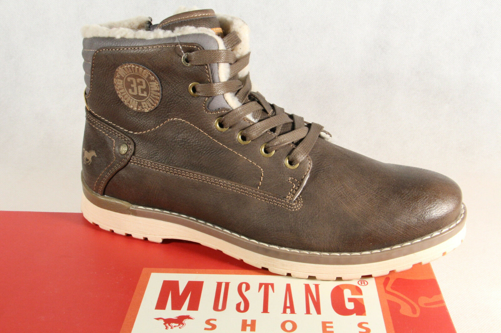 Mustang Stiefel Stiefel Schnürstiefel Winterstiefel SP. 49, 95   braun 4092 NEU