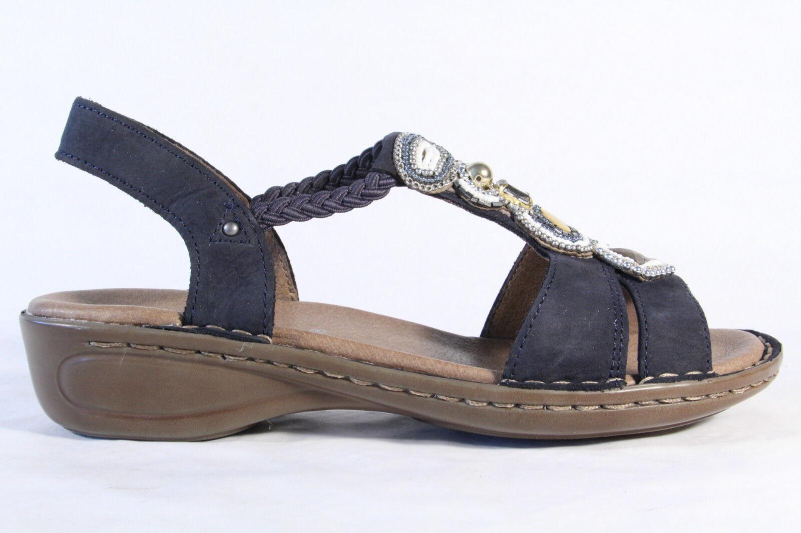 Ara Sandale Sandalette Leder, Leder, Leder, blau Gummizug NEU  e8973a