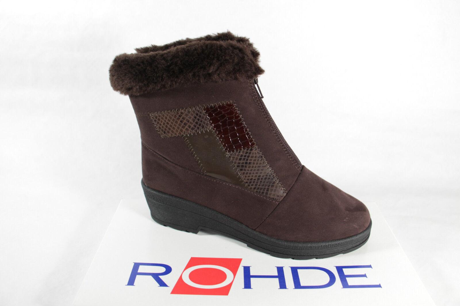 Rohde Damen Stiefel Stiefel Stiefel Stiefel Stiefeletten Winterstiefel braun Sympatex Neu  e6f2b2