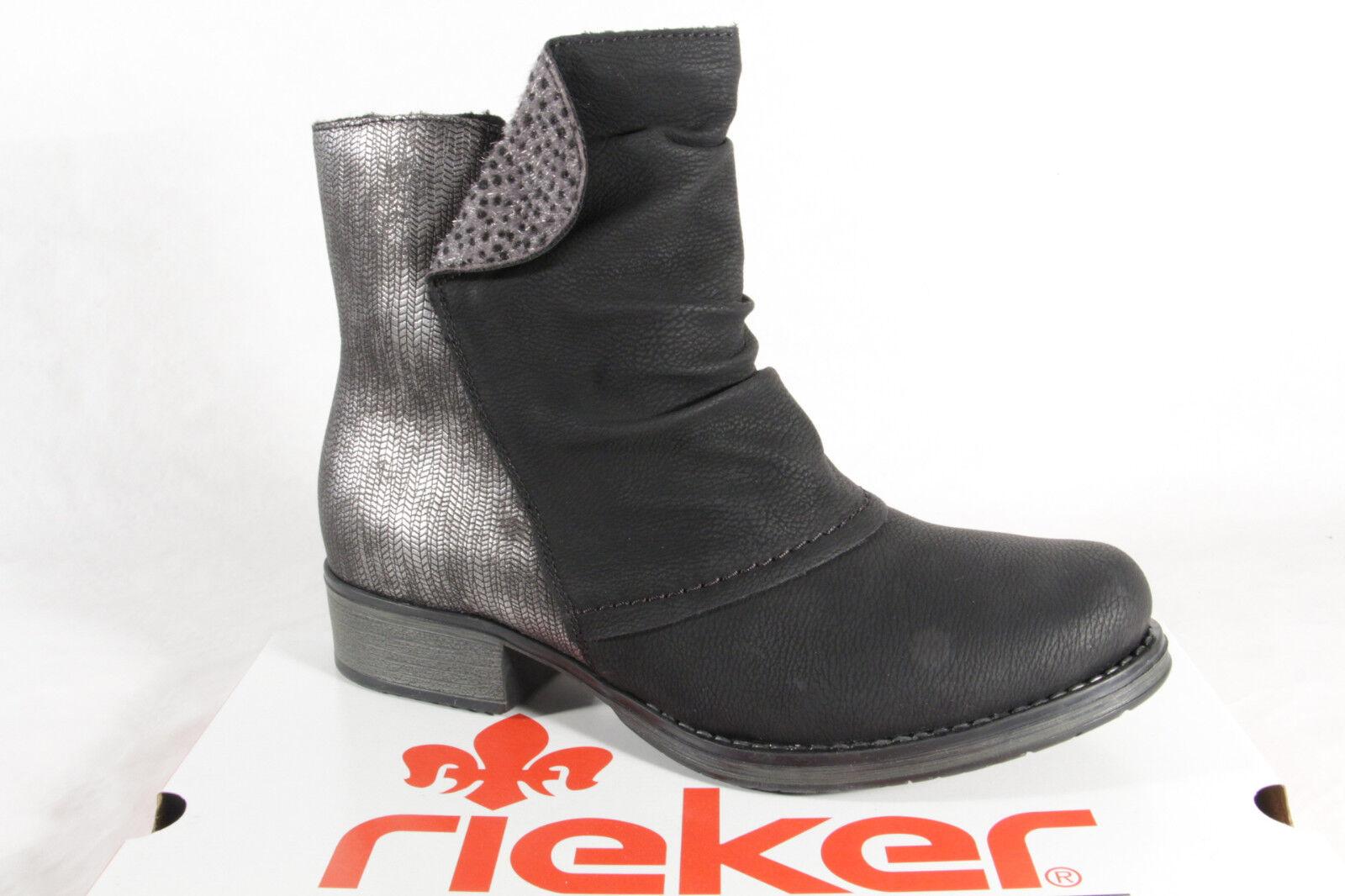 Rieker Y9790 Damen Stiefel Stiefelette Stiefel schwarz Reißverschluss NEU