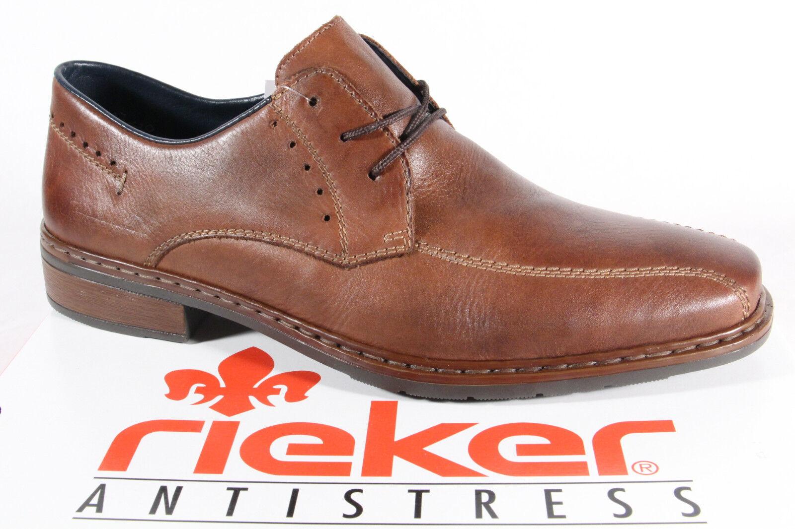 Halbschuhe 13032 Sneakers braun Leder   NEU! Rieker Herren Schnürschuhe