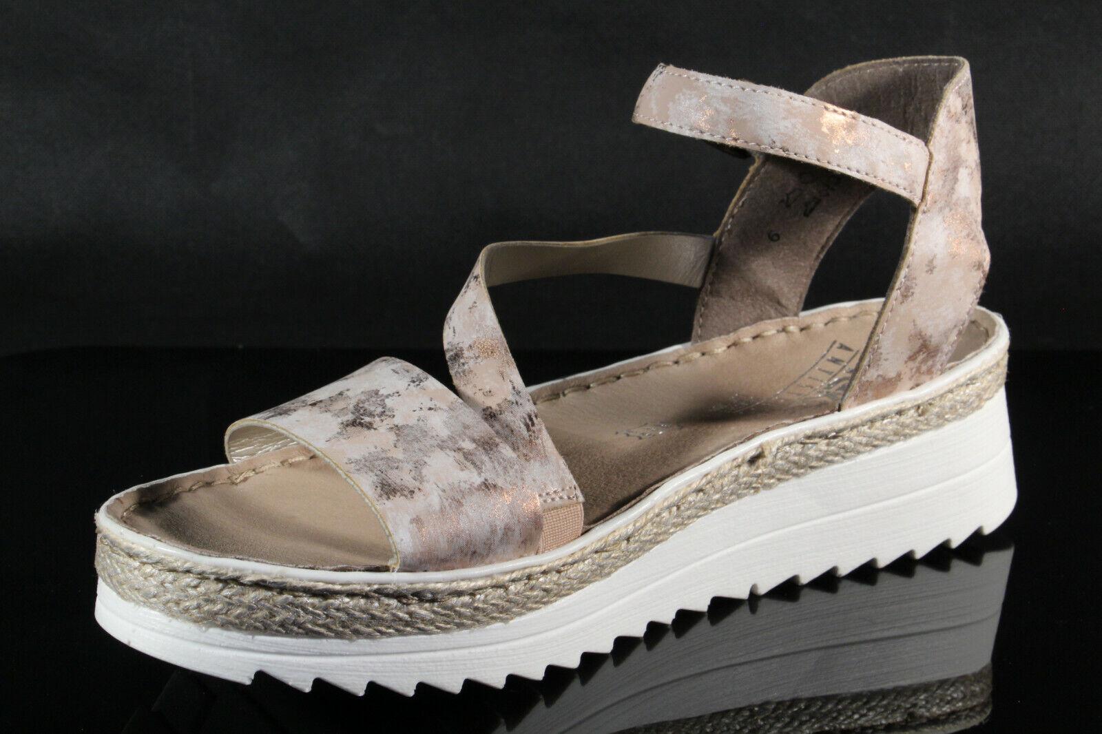 Rieker Damen Sandale Sandalen Sandalette Sandaletten rose NEU!!