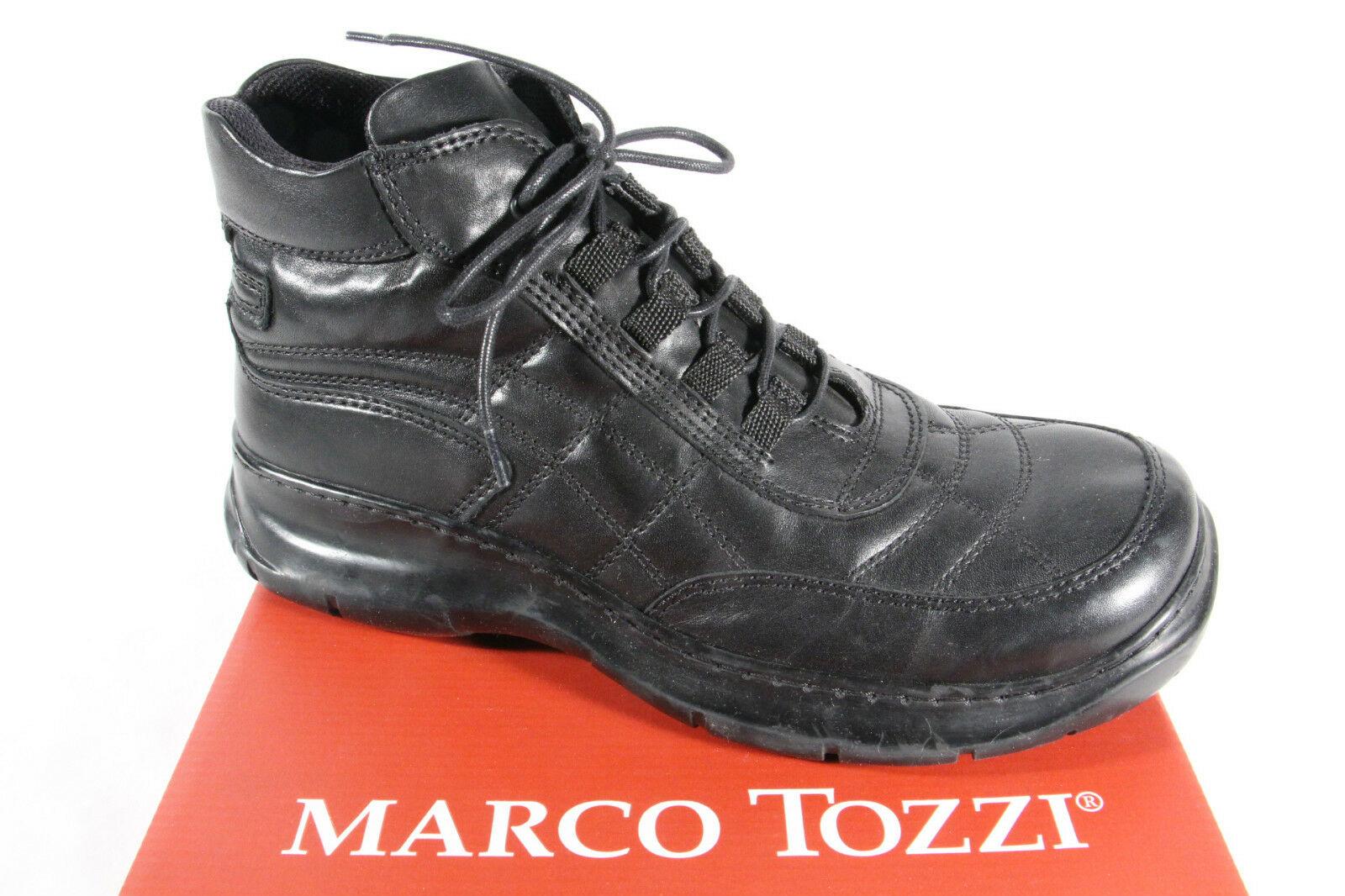 Marco Tozzi Stiefel Stiefeletten Boots Schnürstiefel Leder schwarz NEU!!