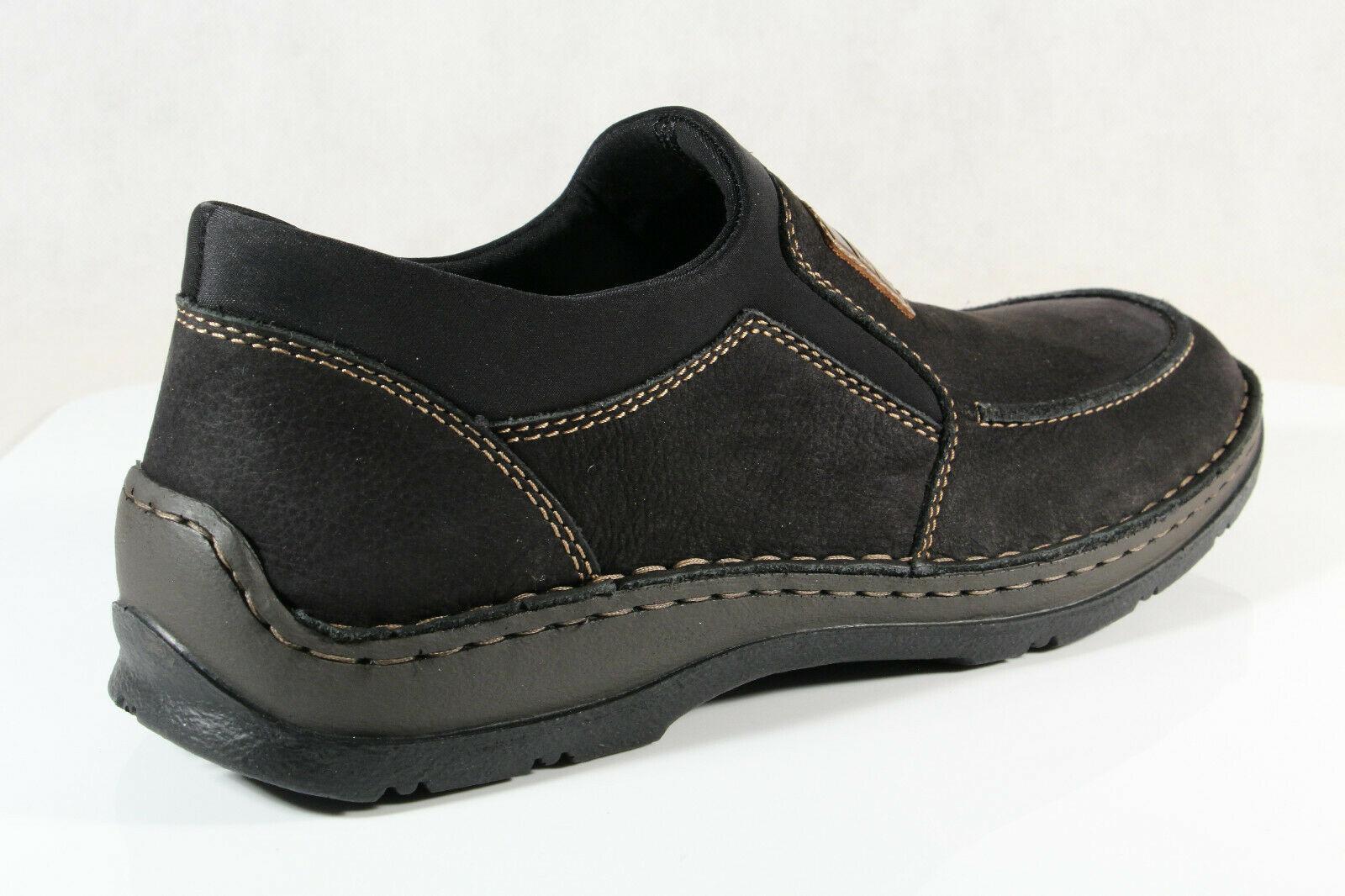 Rieker Slipper Halbschuhe Sneaker schwarz Extra Weit 05352 Nwrkl