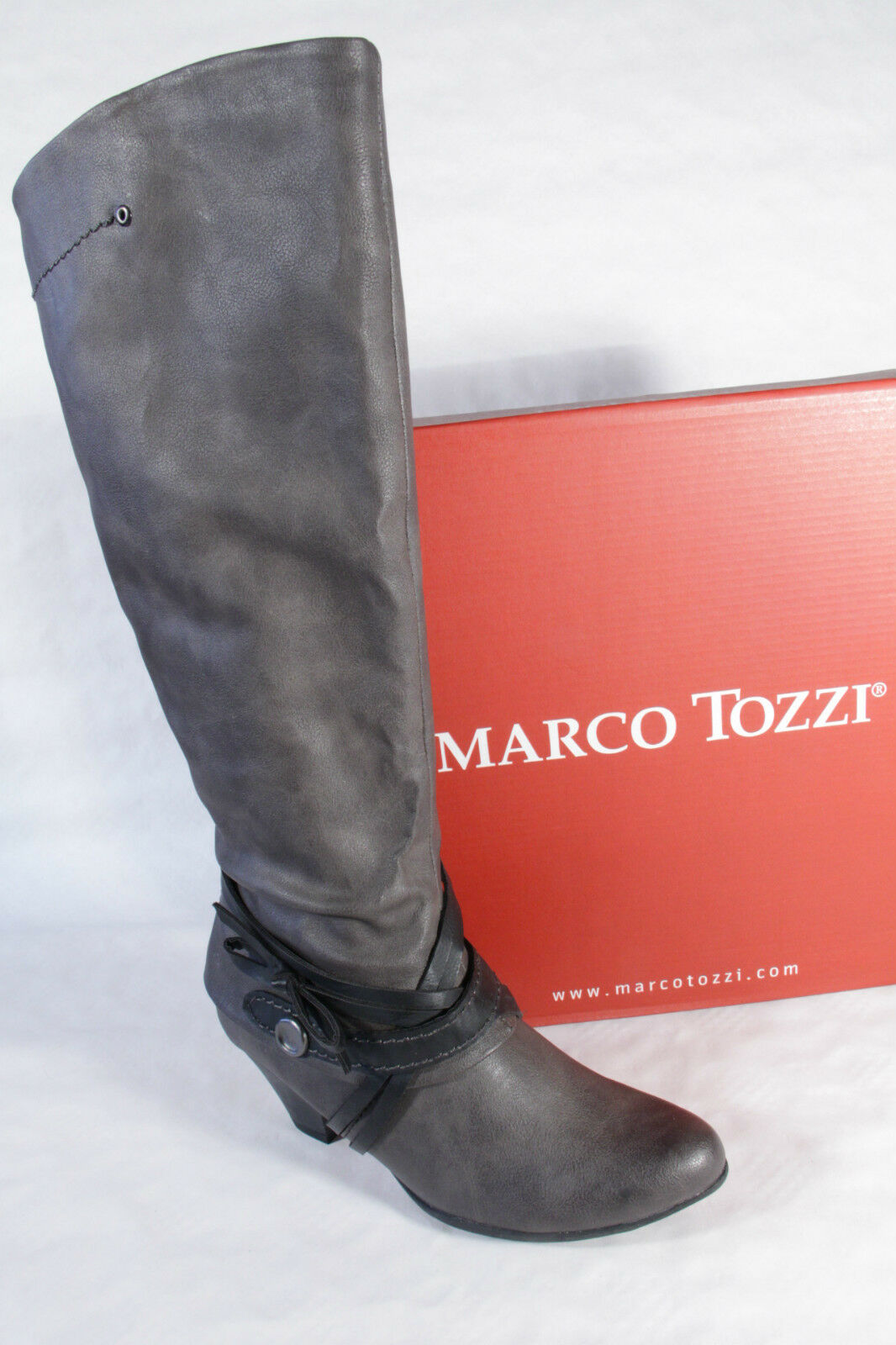 purchase cheap cbbb7 70c19 Marco Tozzi Stiefel, leicht gefüttert, RV, NEU grau ...