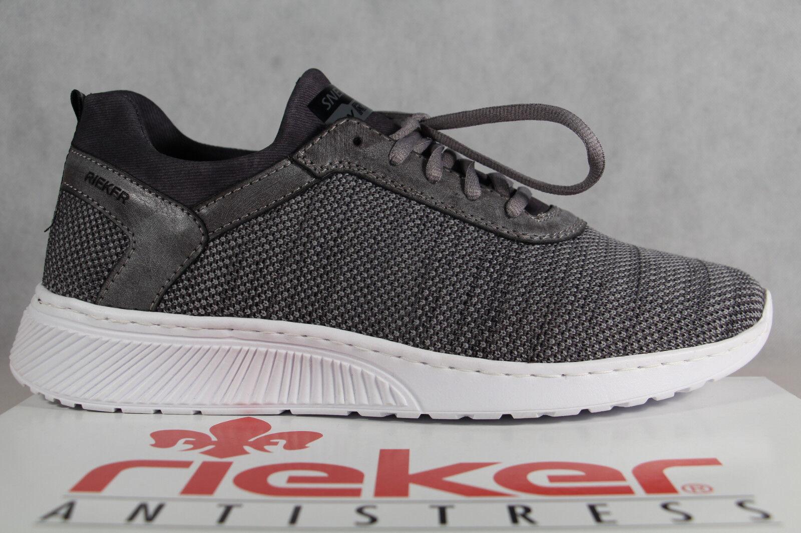 Rieker Halbschuhe Slipper Schnürschuhe Sneaker grau B5051 NEU!!