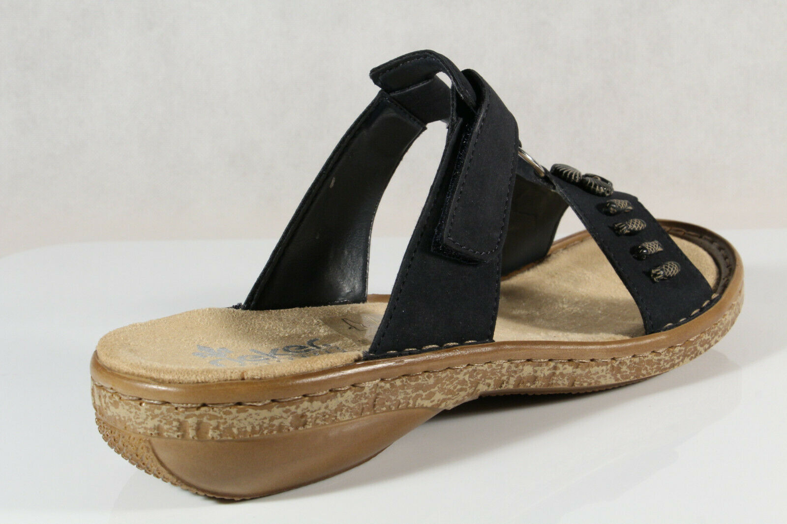 Rieker Damen Pantolette Pantoletten Pantoffel Hausschuhe