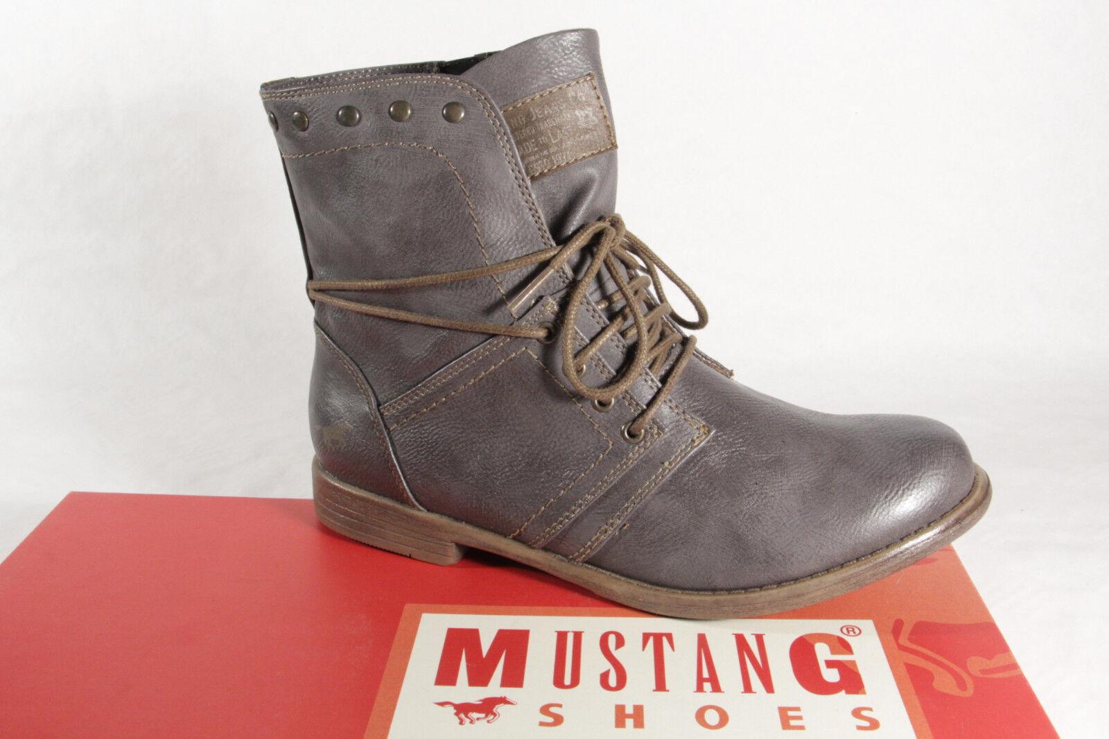 Mustang Stiefel Stiefeletten Schnürstiefel Stiefel grau 1134 NEU