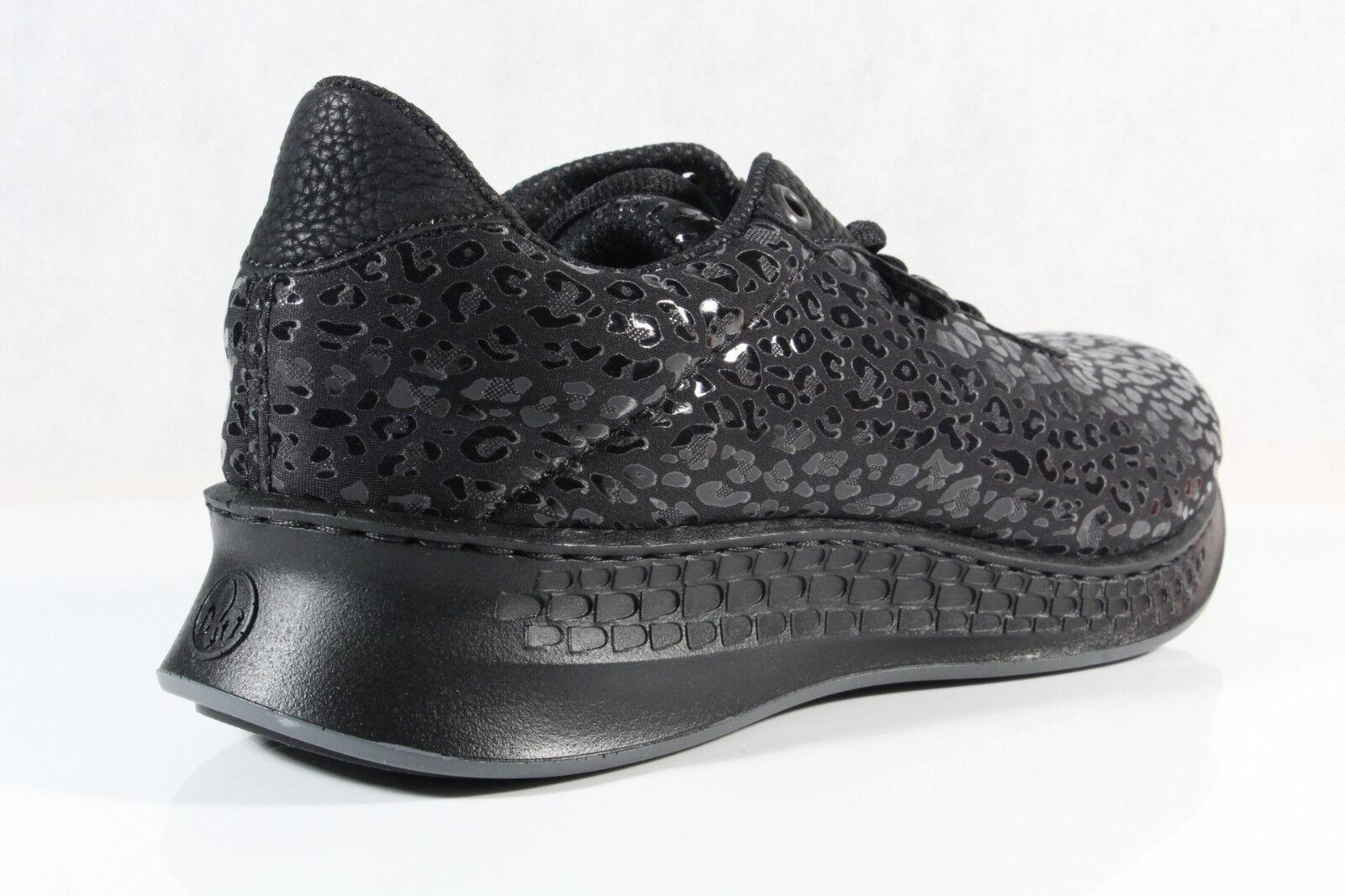 Rieker Damen Schnürschuhe Halbschuhe Sneakers Schnürschuh schwarz N5609 NEU!