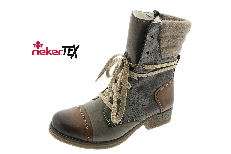 Rieker Stiefel 79631 Stiefelette Boots Winterstiefel braungrau gefüttert NEU