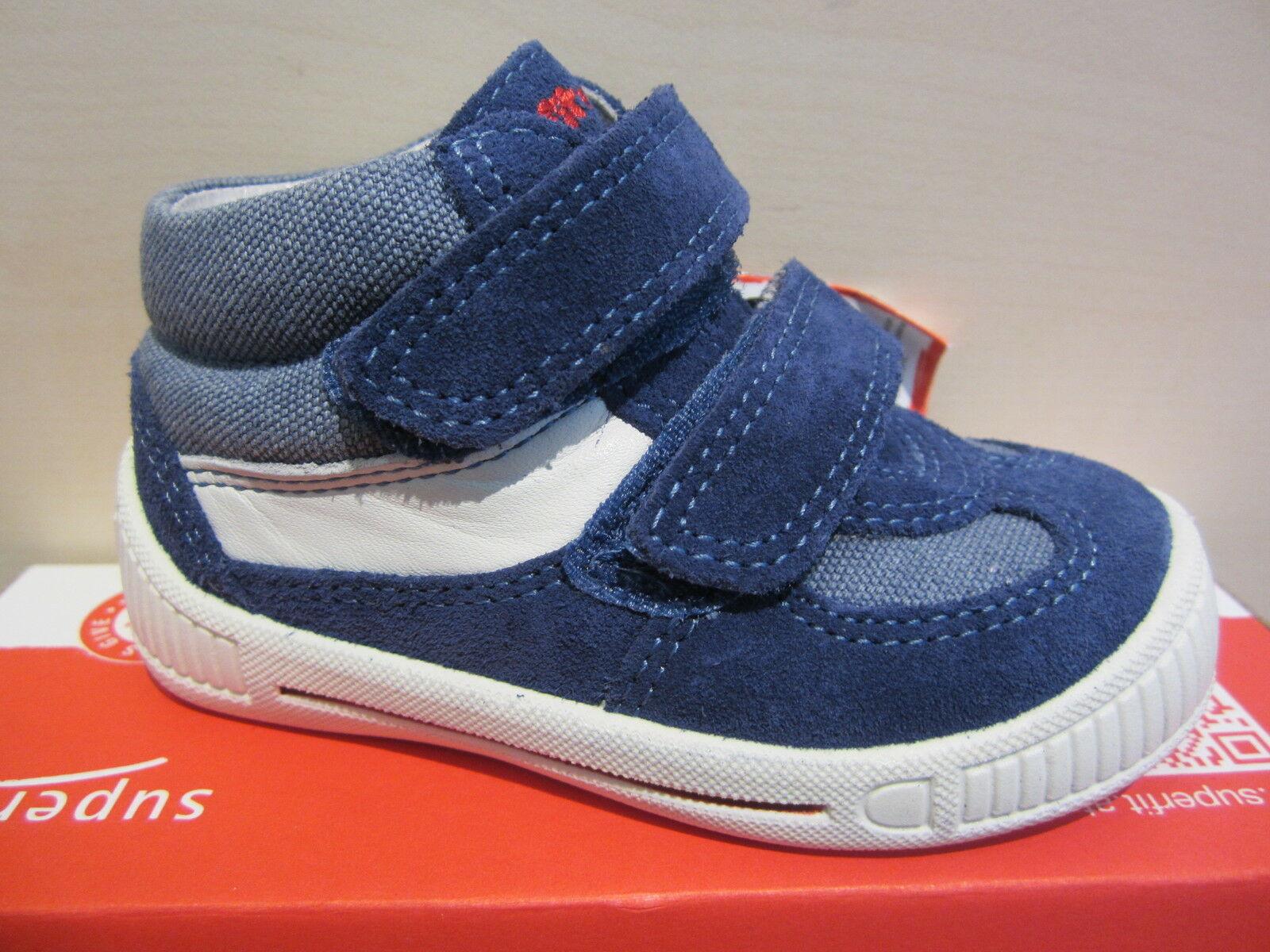 Superfit Lauflern-Stiefel blau weiss KV Lederfußbett Leder Neu
