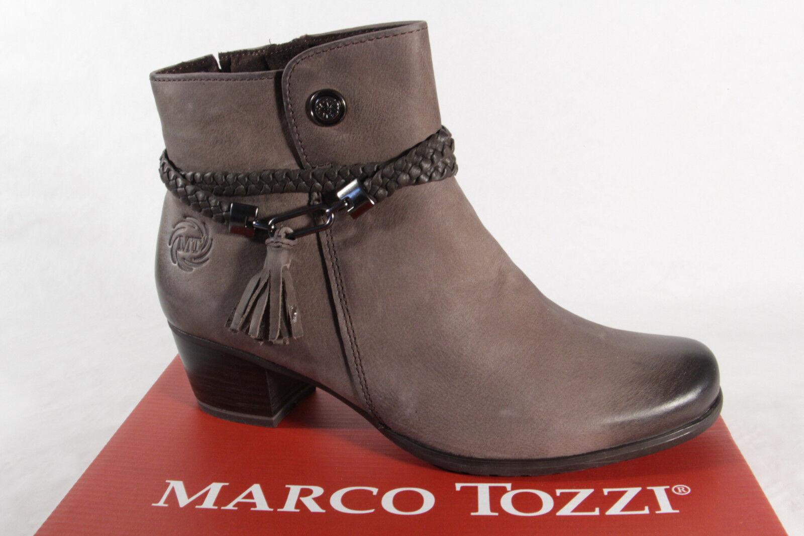 Marco Tozzi 25383 Damen Stiefel, Stiefelette, Stiefel Echtleder grau NEU