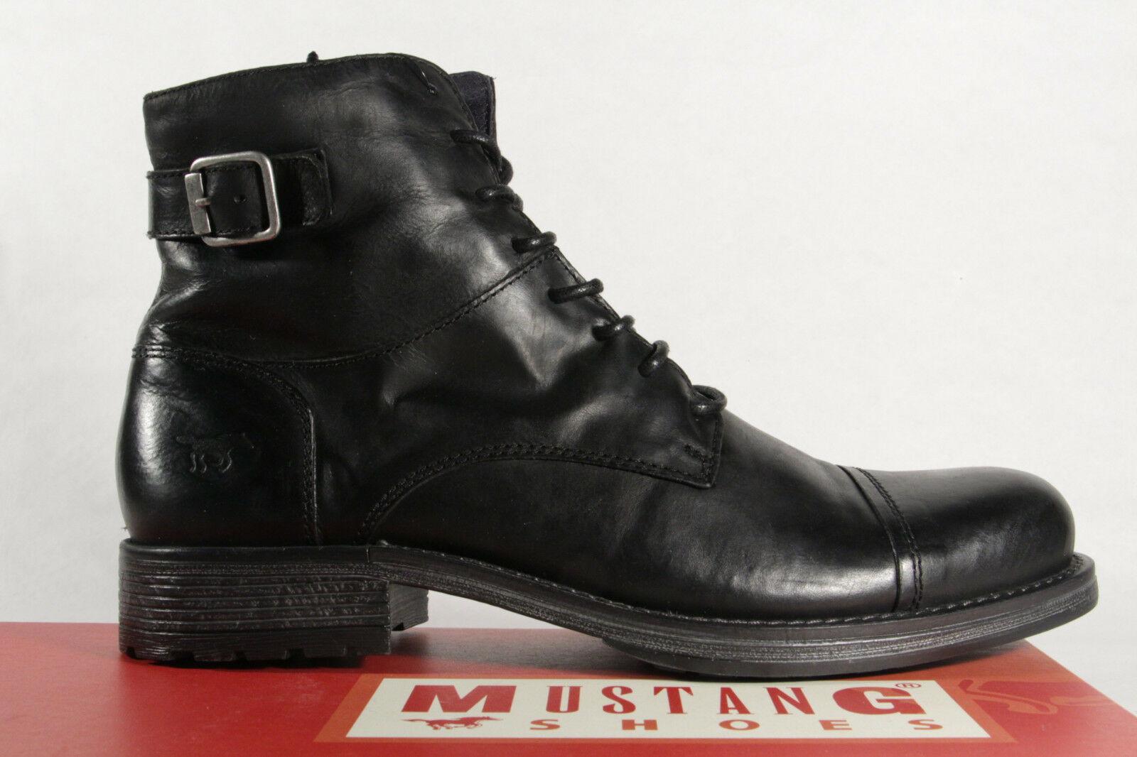 online retailer ba476 132f2 Mustang Herren Stiefel Stiefeletten Boots Winterstiefel Echtleder schwarz  NEU!