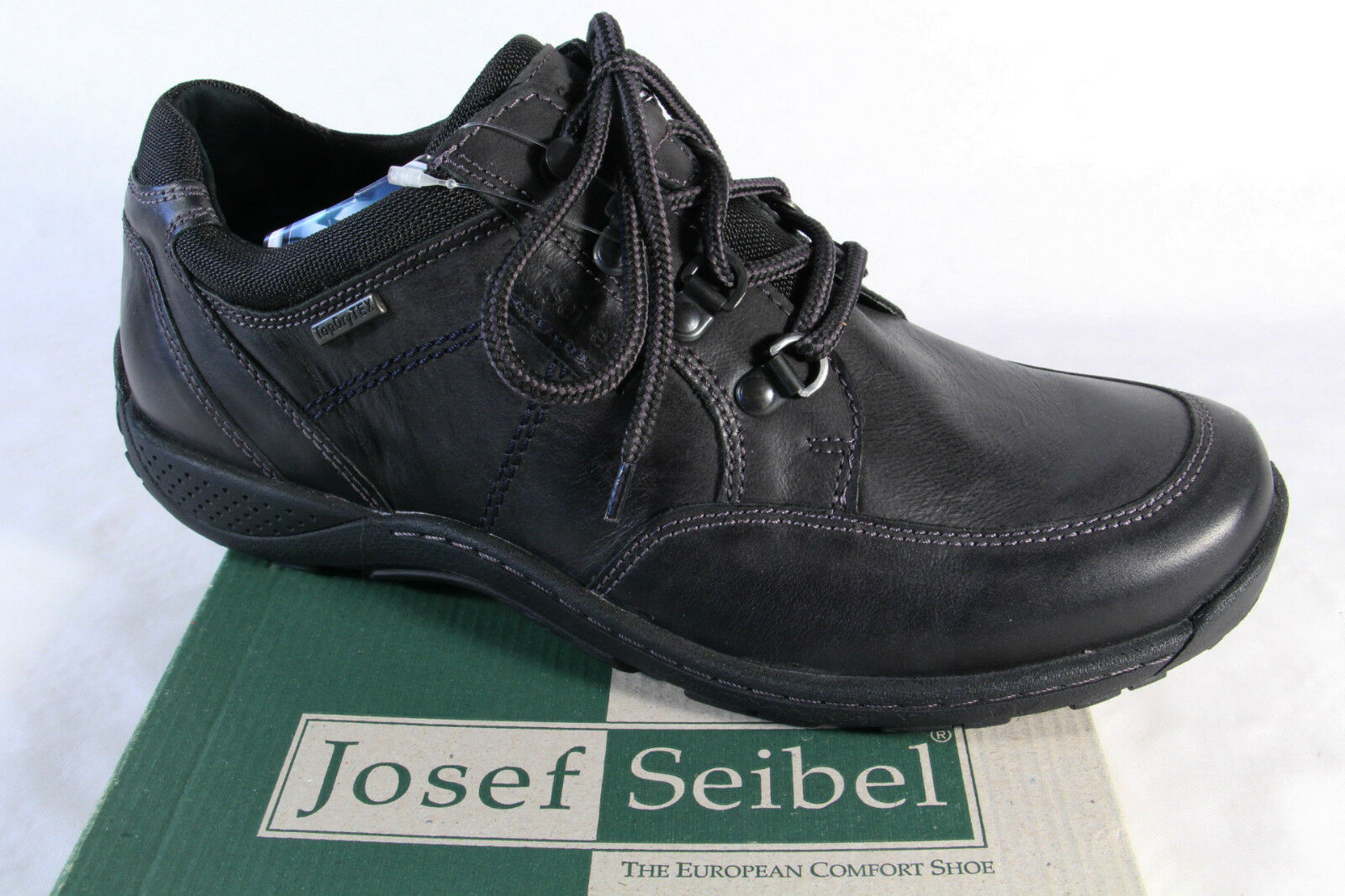 Seibel Halbschuh Herren Schnürschuh, Halbschuh Seibel Turnschuhe schwarz, Lederinnensohle, NEU  cc316e