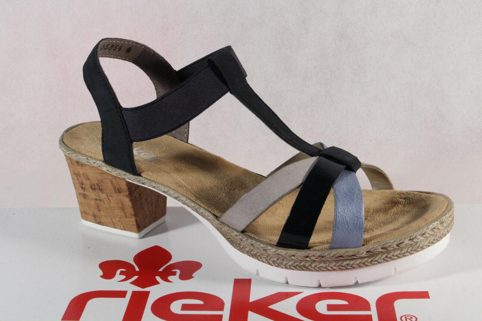 rieker sandalette blau