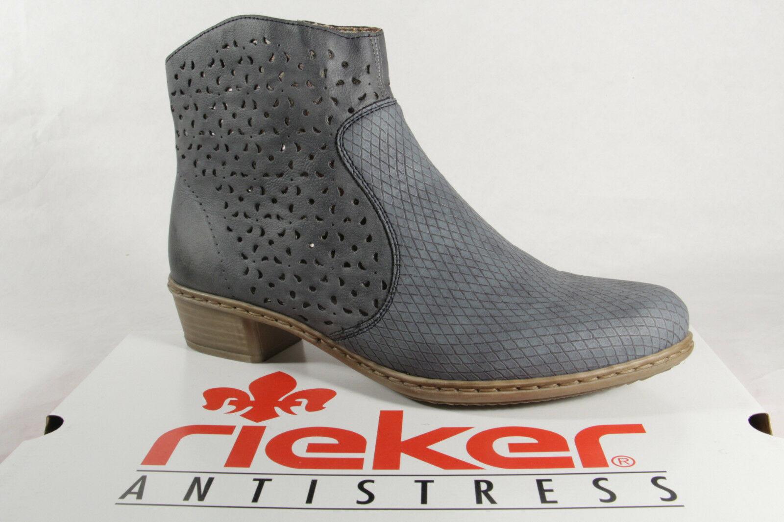 Rieker Stiefelette Damen Stiefel Y0766 Blau mnNwv80O