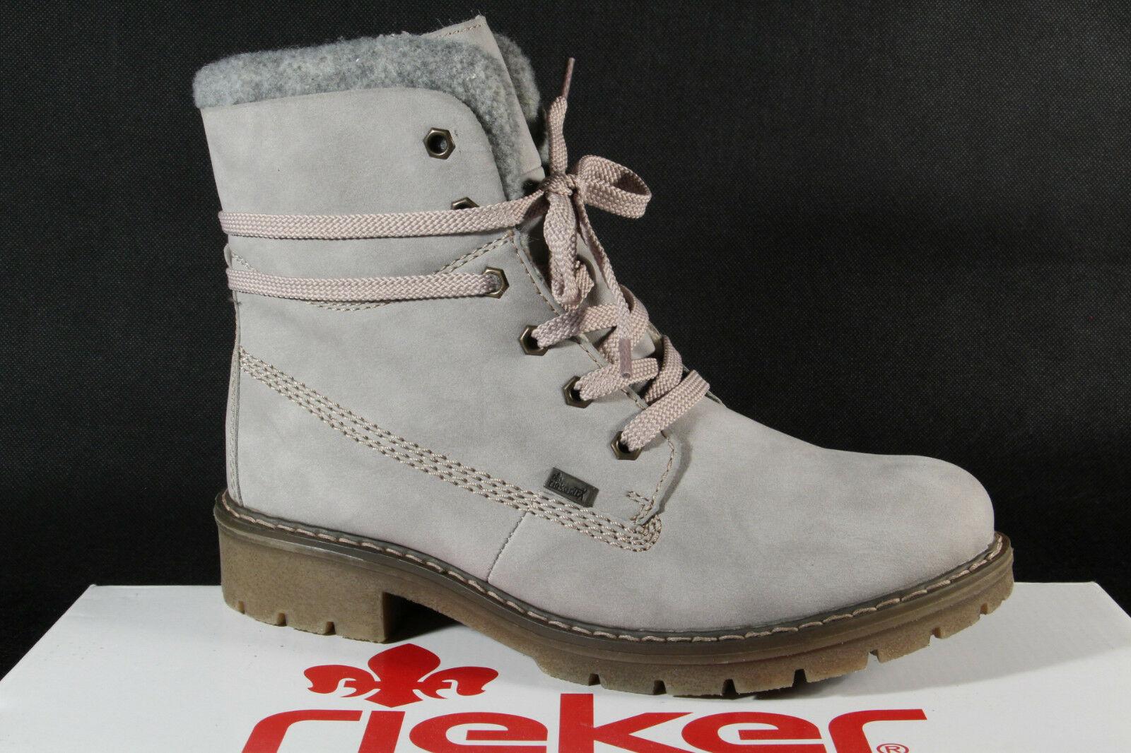 Rieker Tex Schnürstiefel Boots Stiefelette Stiefel grau Y9144 NEU!