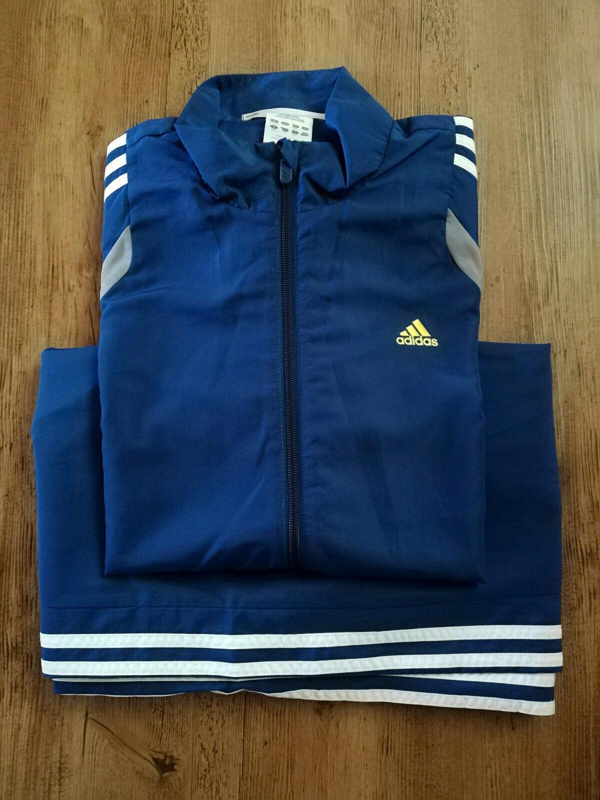 Adidas Trainingsanzug Herren Sport Jacke Hose Trainingsjacke blau NEU