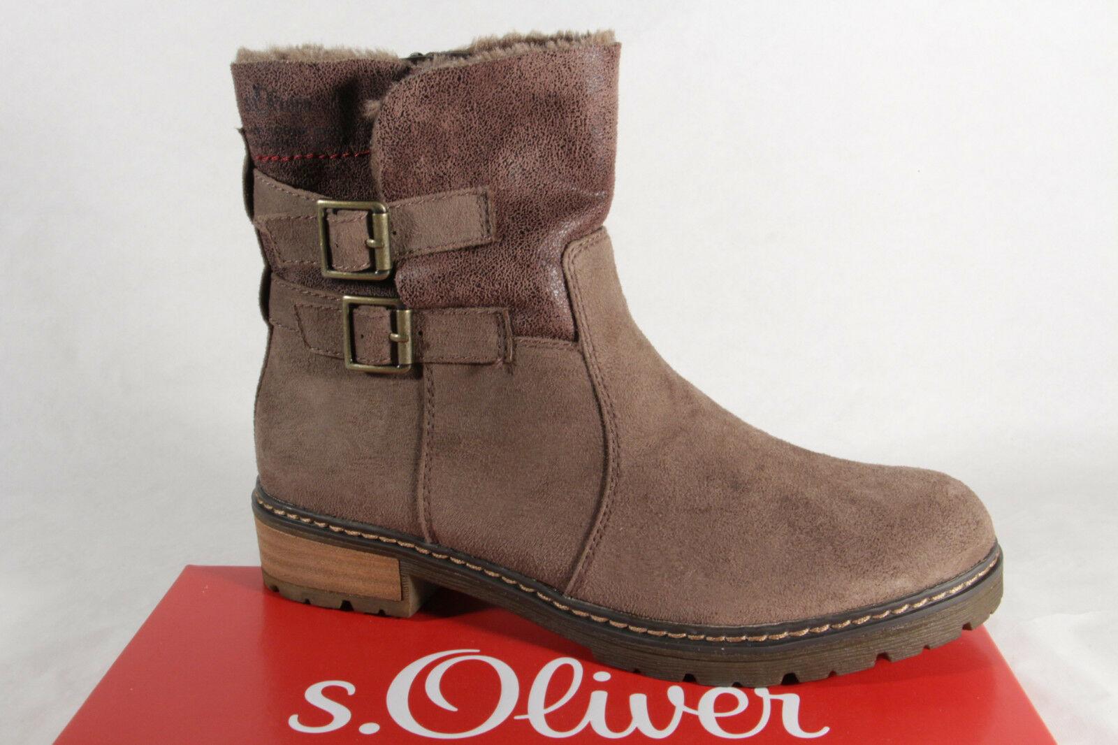 S.Oliver Damen Stiefel, Stiefelette, Stiefel pfeffer 25419 NEU