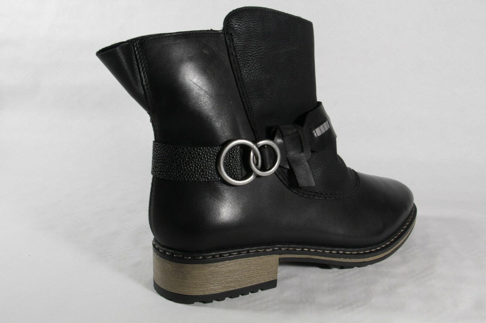 1f58f81f873e ... Rieker Damen Stiefel Stiefeletten Boots Winterstiefel schwarzZ6899 NEU  4 ...