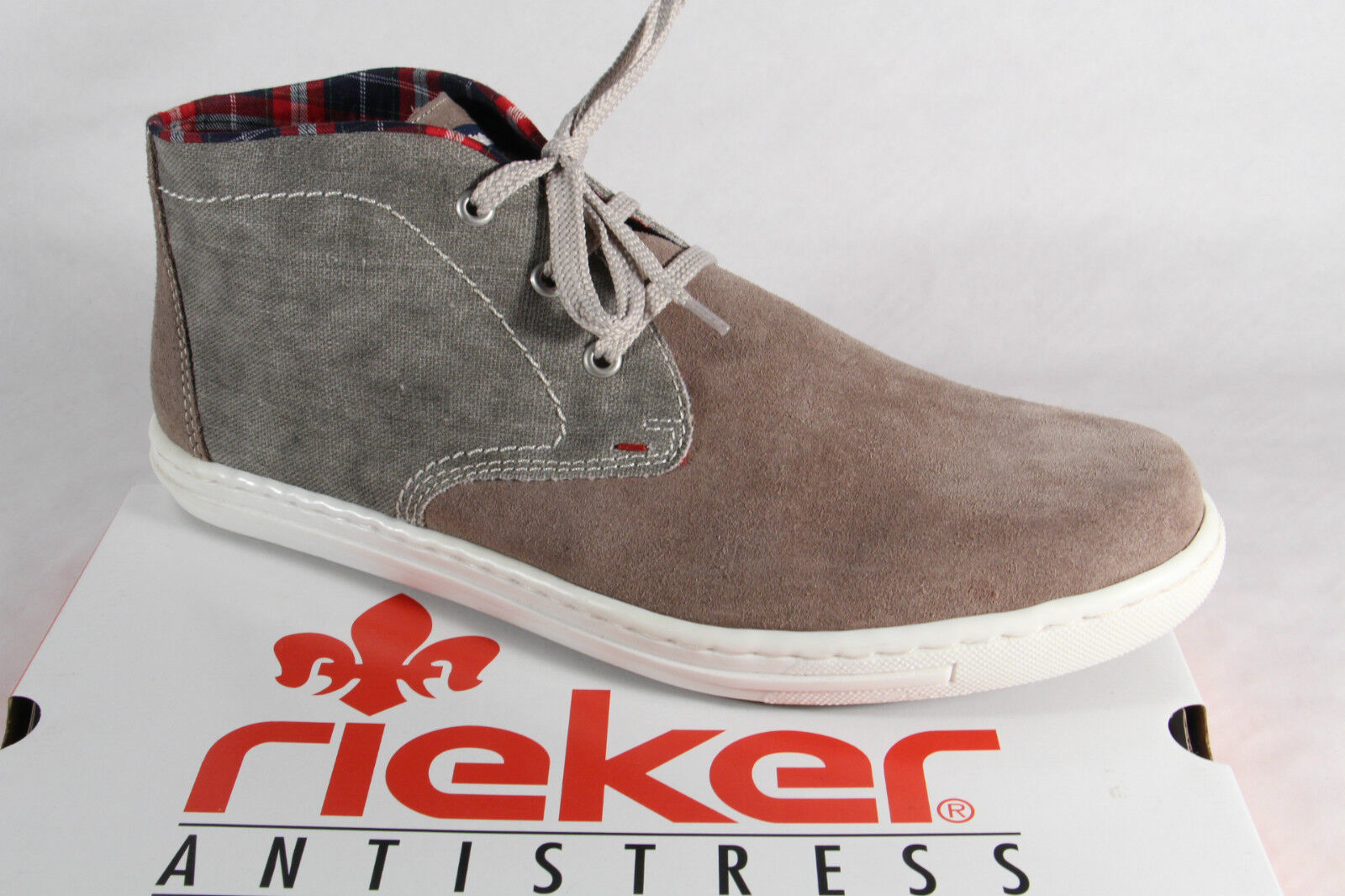 Kostenloser Versand 27813 36e76 Rieker Herren Schnürschuhe Sneaker Sportschuhe Halbschuhe Leder grau NEU!