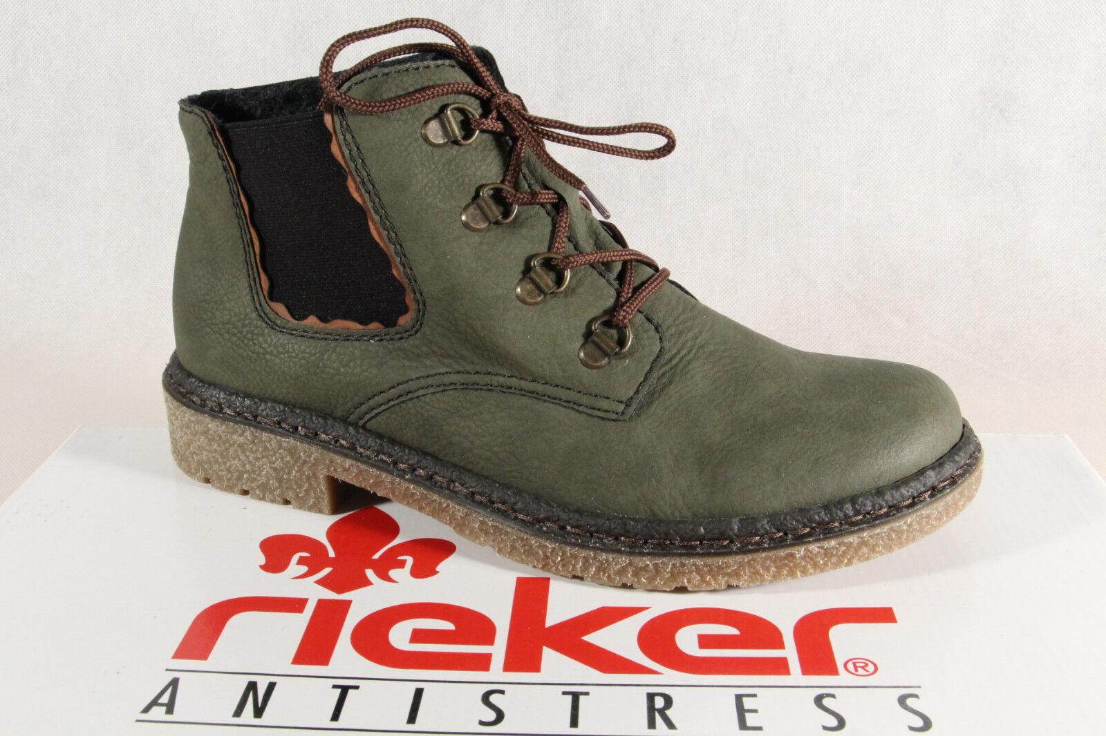 Rieker Damen Boots Stiefel Stiefeletten grün 53234 NEU tan2H