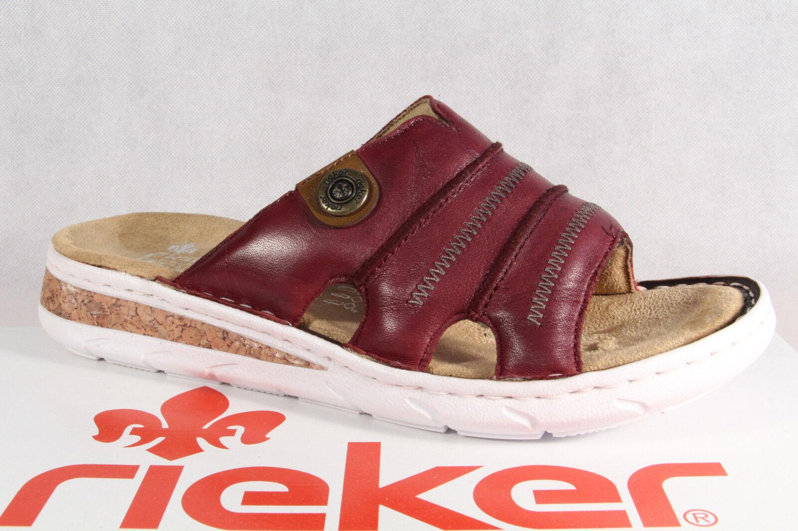 Rieker Pantoletten Pantolette Pantoffel  rot 61876 NEU  Pantoffel Kaufen bei ... ec5218