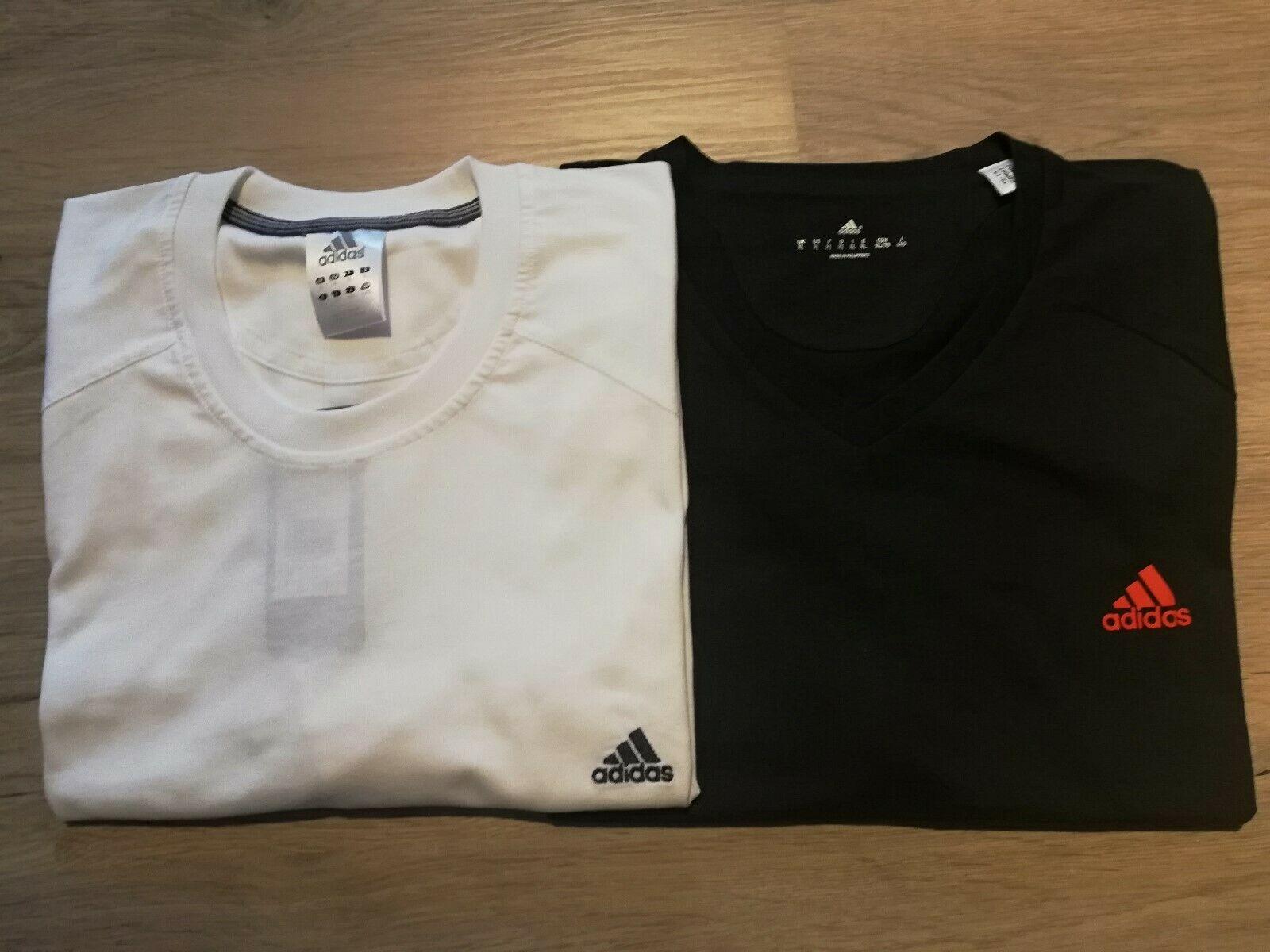 reputable site 4afb4 ec52b Adidas T-Shirts Set Herren schwarz weiss Shirt Männer Oberteil Sport NEU!