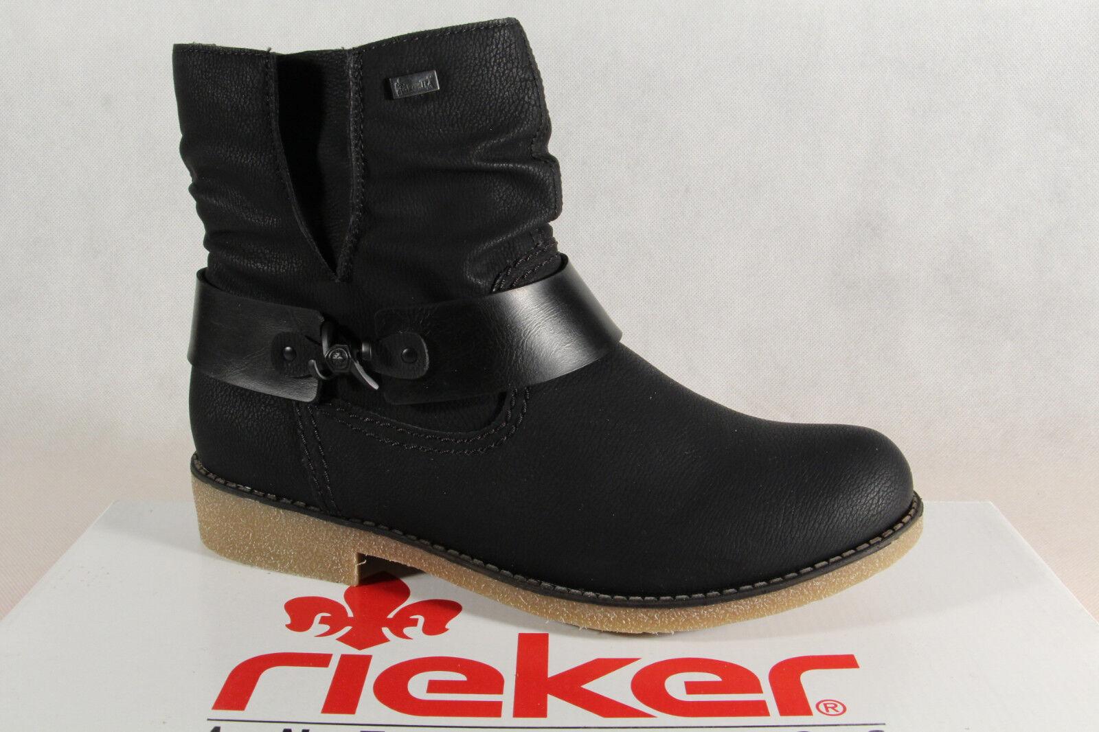 Rieker Tex Damen Stiefel, Stiefelette schwarz Schurwollfutter 76736 NEU
