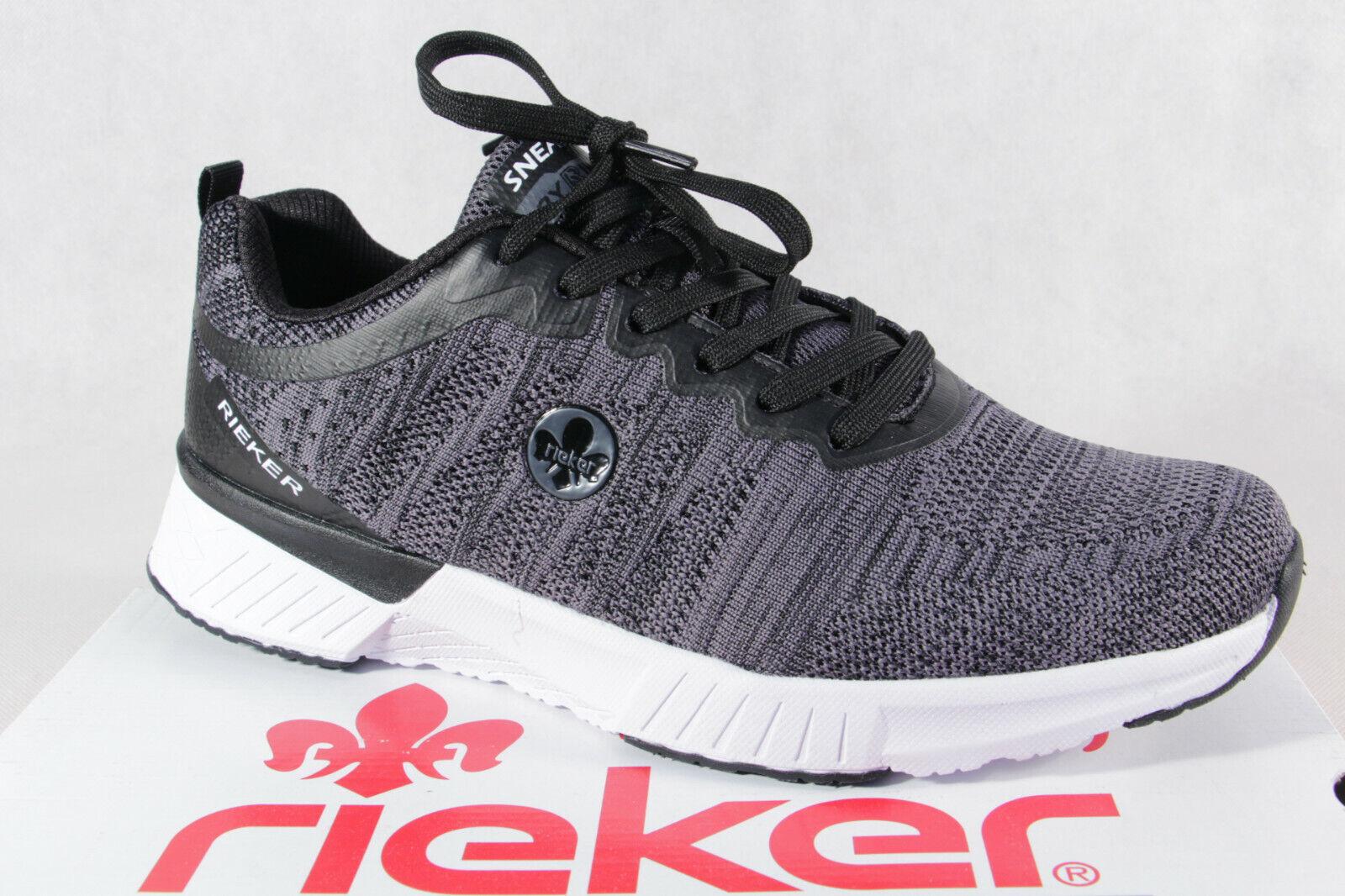 Rieker Sneaker Sneakers Schnürschuhe Slipper Halbschuhe grau STudX