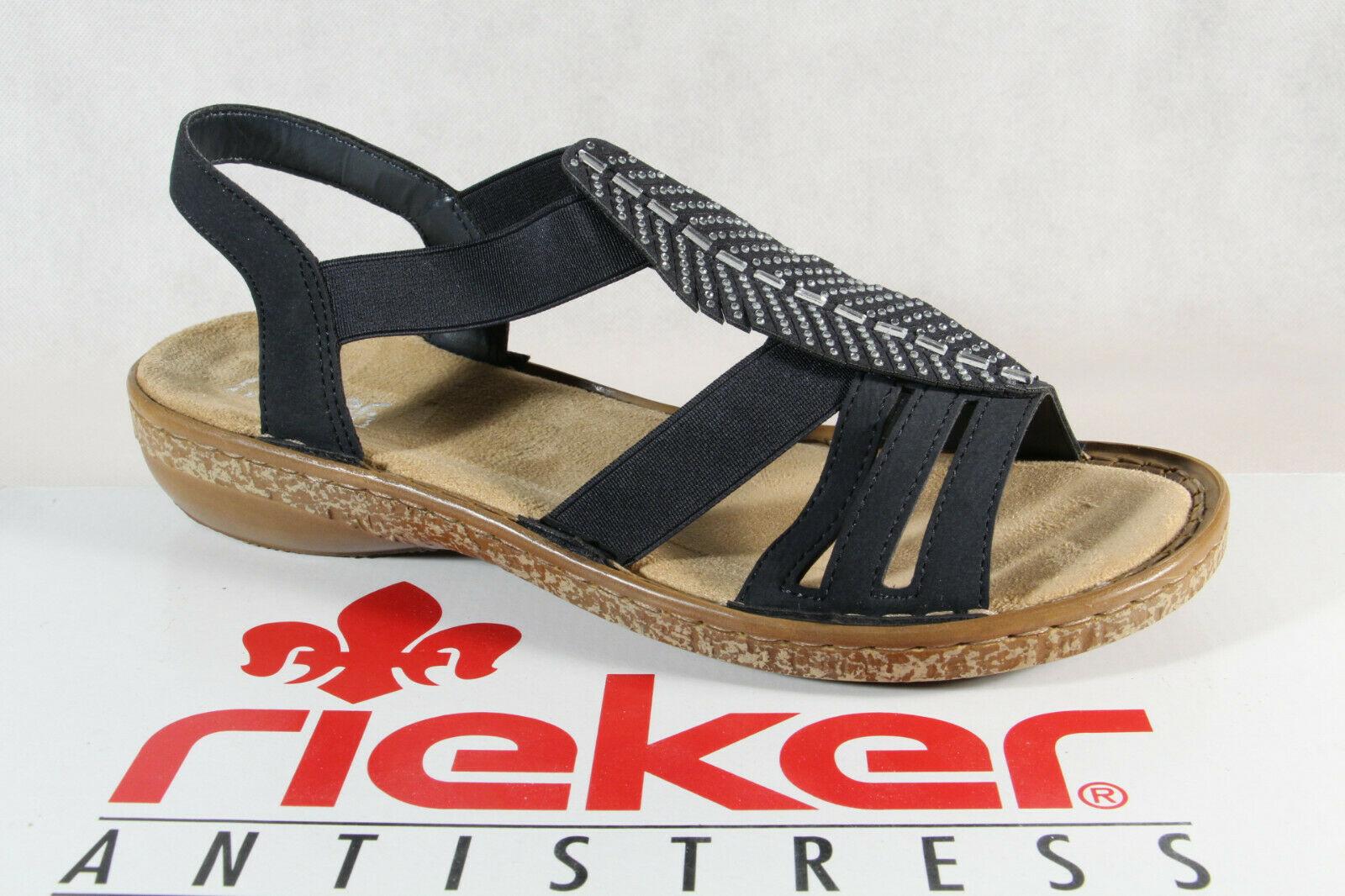 Rieker Damen Sandalen Sandaletten Sandale blau 628G6 NEU