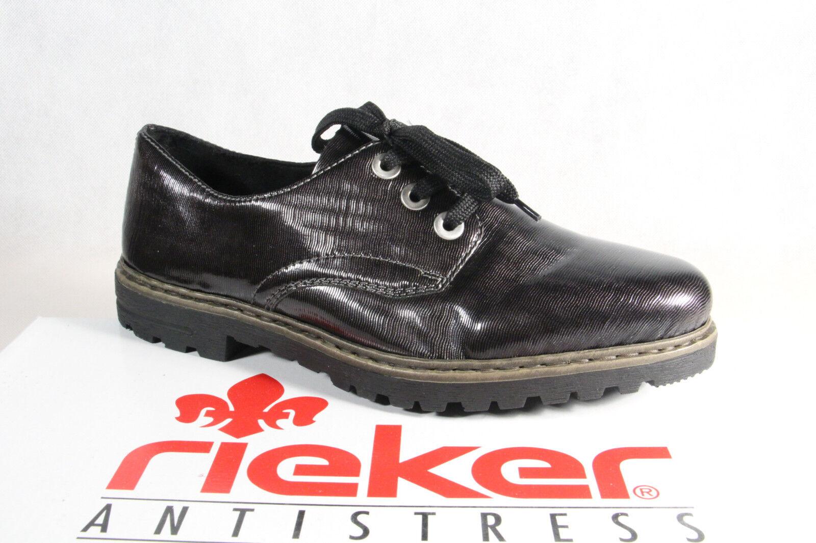 Rieker Damen Schnürschuh Slipper Halbschuhe, Sneakers grau M4809 NEU ... 3cdbe87c0e