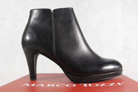 Marco Tozzi Stiefel, gefüttert Stiefeletten, schwarz, Reißverschluß, gefüttert Stiefel, 25392 NEU! 31a39b