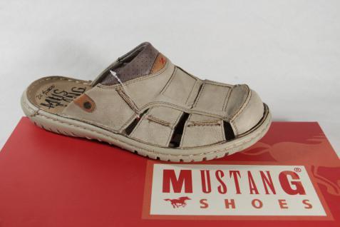 Mustang Herren Clogs NEU!! beige mit weicher Innensohle NEU!! Clogs 58fa7c