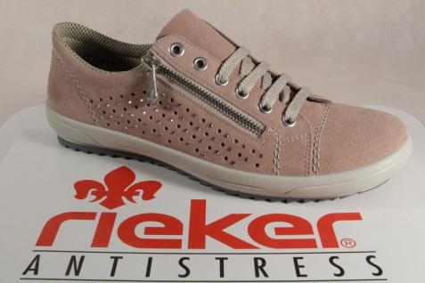 Rieker Damen Schnürschuhe Halbschuhe Sneaker rose, M6003 NEU!