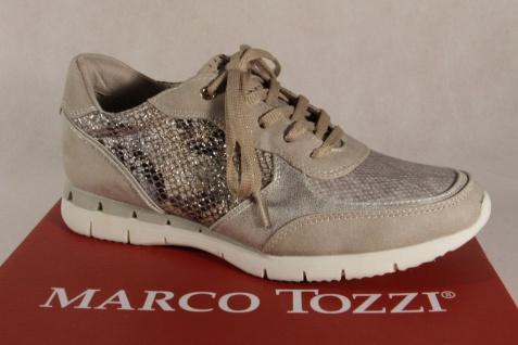 Marco Tozzi Schnürschuhe Sneakers Halbschuhe beige 23703 NEU!