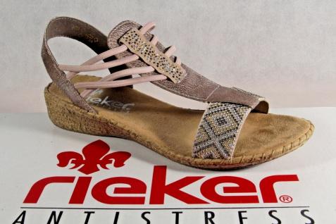 Rieker Damen Sandalen Sandaletten 61662 Sandale Pantoletten rosè 61662 Sandaletten NEU!! 5b1911