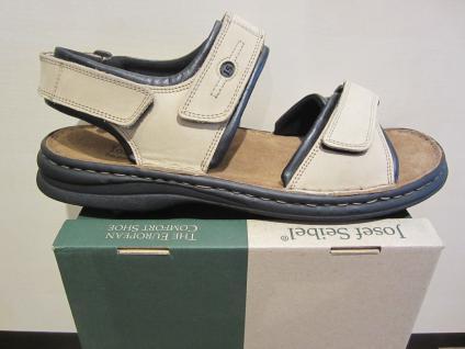 Seibel Sandale beige Klettverschluss Leder Klettverschluss beige NEU bcbc40