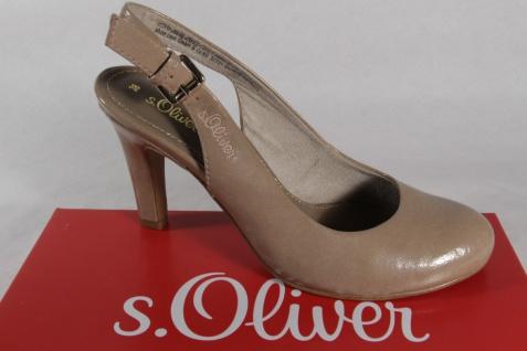 S.Oliver Sling/Sandale, sand/ beige, Lederinnendecksohle NEU!!