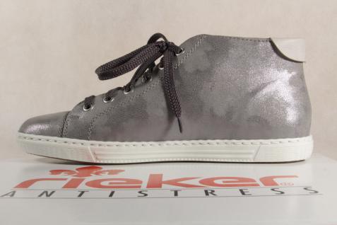 Rieker Damen Schnürschuh, NEU! Halbschuh, Sneaker, grau, L0934 NEU! Schnürschuh, a44725