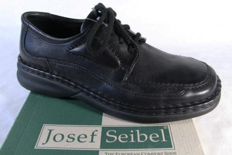 Seibel Herren Schnürschuhe Halbschuhe Sneakers schwarz, Leder NEU!