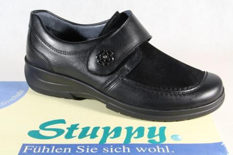 Stuppy Damen Slipper Halbschuhe, Sneakers Leder schwarz 6030 NEU!