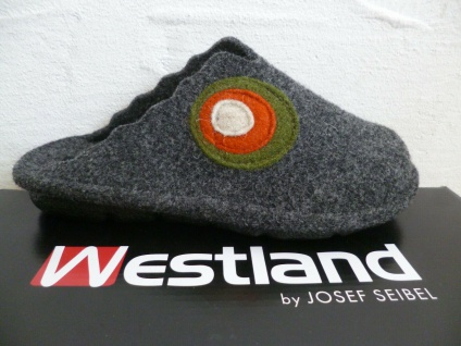 Westland by Seibel Damen Pantoffeln Hausschuh Hausschuhe grau Filzstoff NEU!!