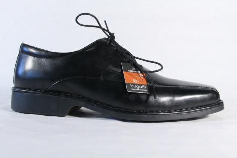 Bugatti Herren Leder Schnürschuhe, Halbschuhe Sneakers schwarz Leder Herren NEU! Beliebte Schuhe 49a869