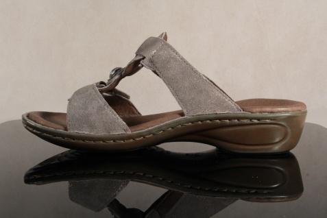 Ara Echteder, Pantoletten Pantolette Echteder, Ara grau, Klettverschluß 27273 NEU! Beliebte Schuhe 684e0a