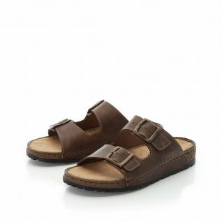 Rieker Pantoletten Pantolette Sandale Sandalen Hausschuhe braun Leder 25694 NEU!
