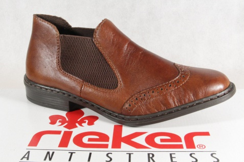 Rieker Leder Damen Slipper Halbschuhe, Sneakers Leder Rieker braun 52093 NEU! 9c71af